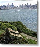 Alcatraz And San Francisco Metal Print