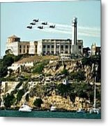 Alcatraz Blues Metal Print by Benjamin Yeager
