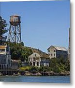 Alcatraz Dock And Water Tower Metal Print