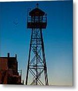 Alcatraz Guard Tower Metal Print by Steve Gadomski