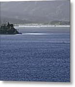 Alcatraz Island And Richardson Bay Metal Print
