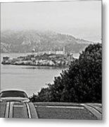 Alcatraz Island From Hyde Street In San Francisco Metal Print by RicardMN Photography