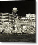 Alcatraz The Rock Sepia 1 Metal Print