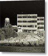 Alcatraz The Rock Sepia 2 Metal Print
