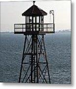 Alcatraz Watch Tower Metal Print