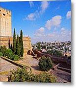 Alcazaba In Granada Metal Print