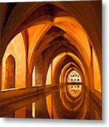Alcazar Cave Galleries Seville Metal Print by Viacheslav Savitskiy