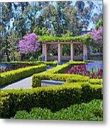 Alcazar Garden Vibrant Color Display Balboa Park Metal Print