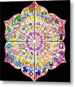 Alchemical Lotus Zodiac Metal Print