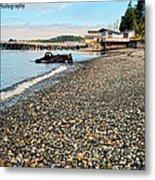 Alert Bay Beach Scape Metal Print