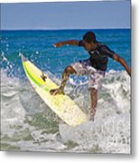 Alex 16 Year Old Pro Surfer Metal Print