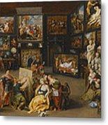 Alexander The Great Visiting The Studio Of Apelles Metal Print