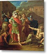 Alexander The Great Visits Diogenes At Corinth, 1787 Oil On Canvas Metal Print