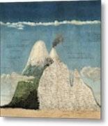 Alexander Von Humboldts Chimborazo Map Metal Print