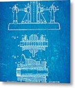 Alexanderson Altenator Patent Art 2 1911 Blueprint Metal Print