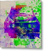 Alfa Romeo Front Watercolor 1 Metal Print