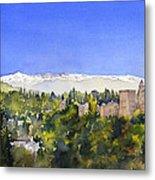 Alhambra Granada Metal Print