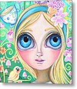 Alice In Pastel Land Metal Print