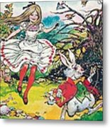 Alice In Wonderland Metal Print by Jesus Blasco