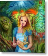 Alice  Metal Print by Luis  Navarro