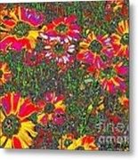 Alice's Garden Metal Print