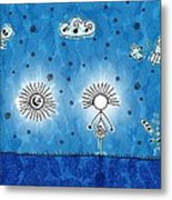 Alien Blue Metal Print