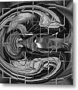 Alien Brain Metal Print