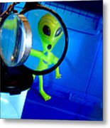 Alien Discovers A True Passion For Legitimate Musical Theatre And Belting Showtunes Metal Print