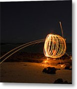 Alien Firework Metal Print by Tin Lung Chao