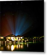 Alien Light At The Tropical Resort Metal Print by Jenny Rainbow