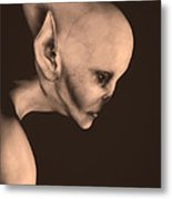Alien Portrait  Metal Print by Bob Orsillo