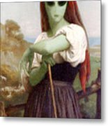 Alien Shepherdess Metal Print