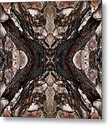 Alien - Tree Bark Art Abstraction Metal Print