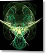Alien With A Beard And Mustache Metal Print