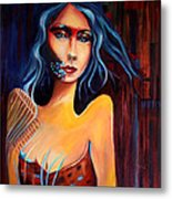 Alien Woman Metal Print