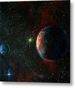 Alien Worlds Metal Print