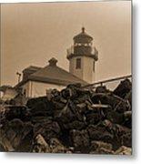 Alki Lighthouse Metal Print