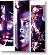 All-american 80's Action Movies Metal Print by Dale Loos Jr