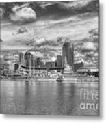 All American City 2 Bw Metal Print