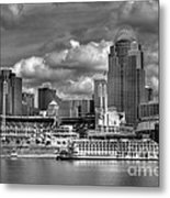 All American City Bw Metal Print by Mel Steinhauer
