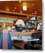 All American Diner 4 Metal Print by Bob Christopher