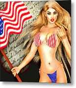 All American Girl - Independence Day Metal Print