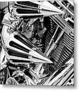 All Chrome Chopper Metal Print