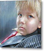 All Dressed Up And Ready For Mischief Metal Print