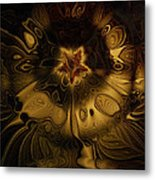 All Gold Metal Print