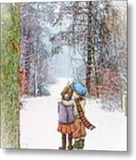 All Hearts Come Home For Christmas Metal Print