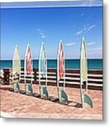 All In A Row Too Metal Print