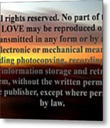 All Rights Reserved Metal Print