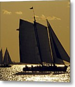 All Sails Sunset In Key West Metal Print