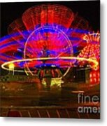 All The Rides Moving At Once Metal Print